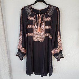 FREE PEOPLE Black Long Sleeve Dress